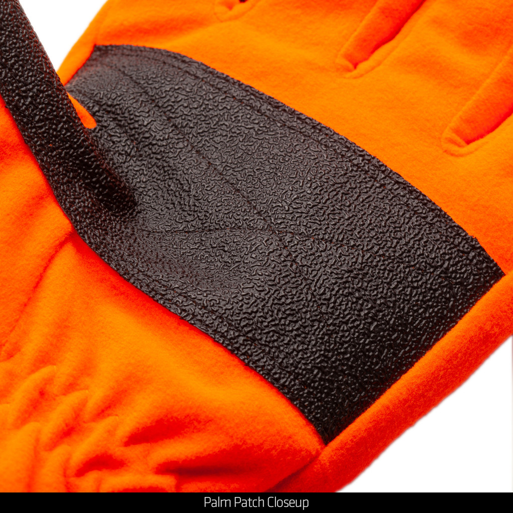 Blaze Gloves - Palm patch closeup.