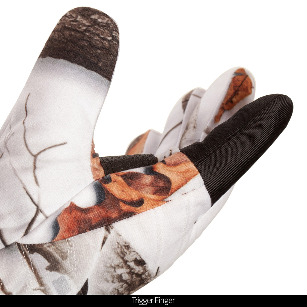 Snow Camo hunting gloves - Trigger finger.