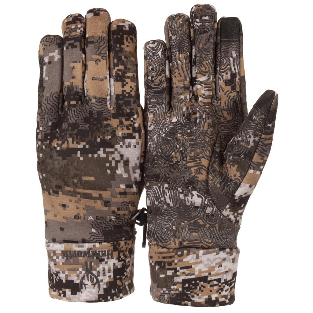 Men's Disruption® pattern lightweight Water Resistant Hunting Gloves.