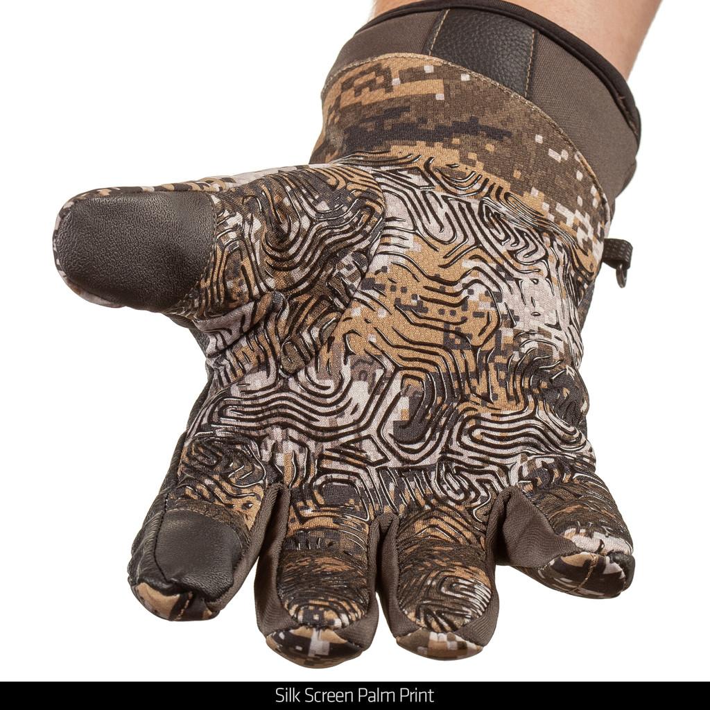 heavyweight Waterproof Hunting Gloves - Silk screen palm print.