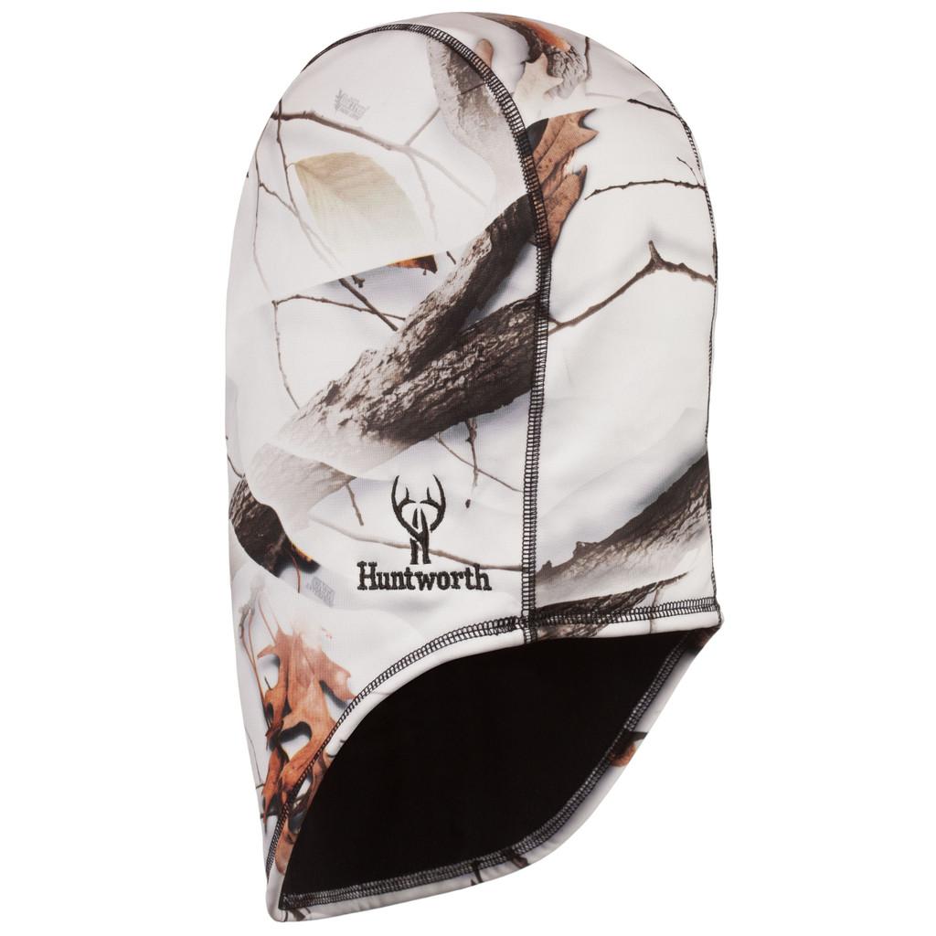 Rear view: Snow Camo Balaclava - Reversible.