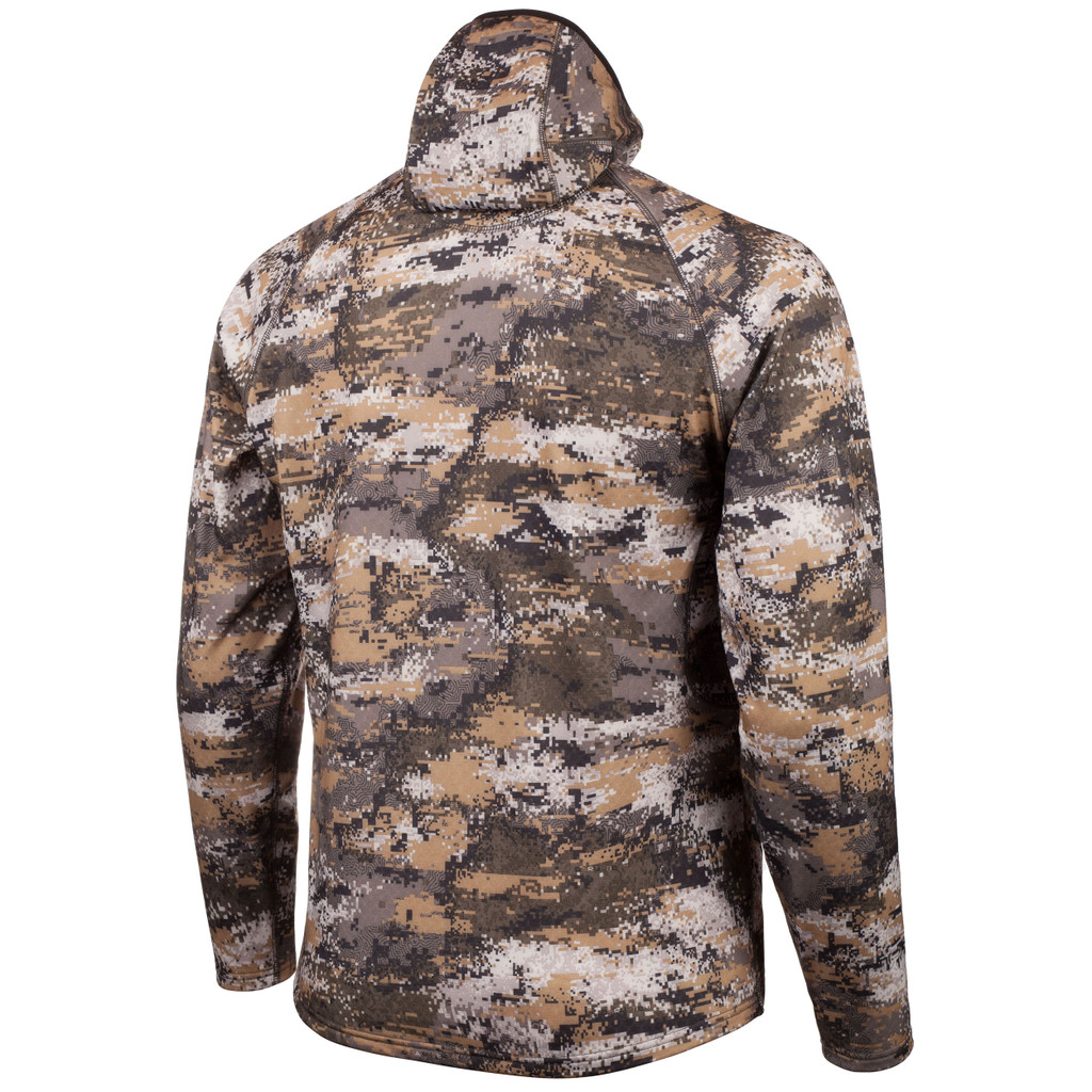 Rear view: Disruption® Hoodie - Shaped hood.