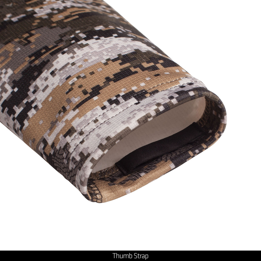 Disruption® pattern hunting Pullover - Inner thumb strap.