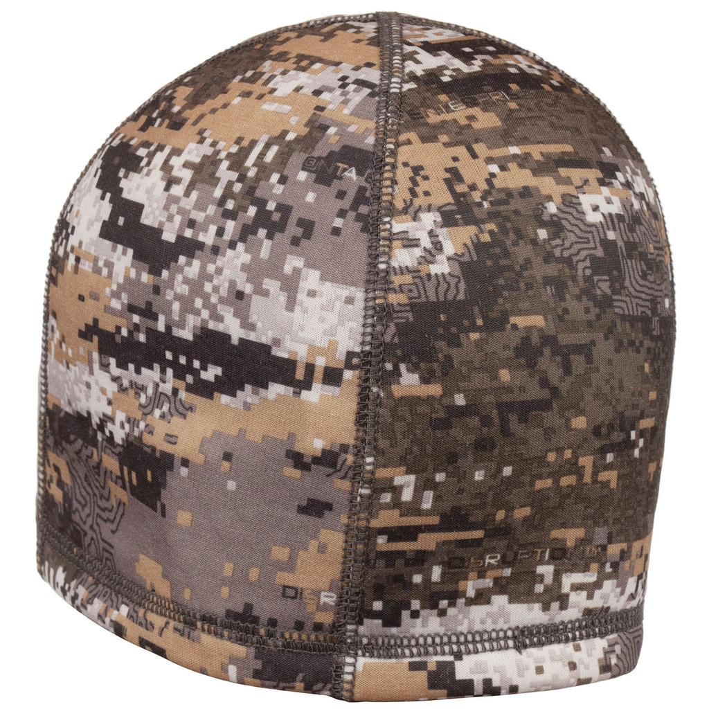 Rear view: Disruption® Hat - Microban® anitmicrobial product protection for scent reduction.