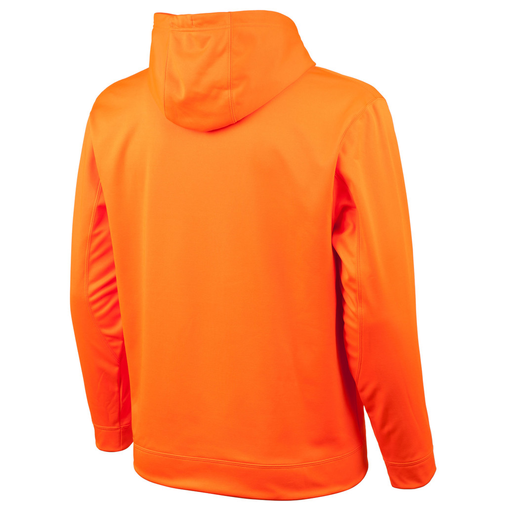 Rear view: Blaze hunting hoodie - Hood lined with second layer of fleece.