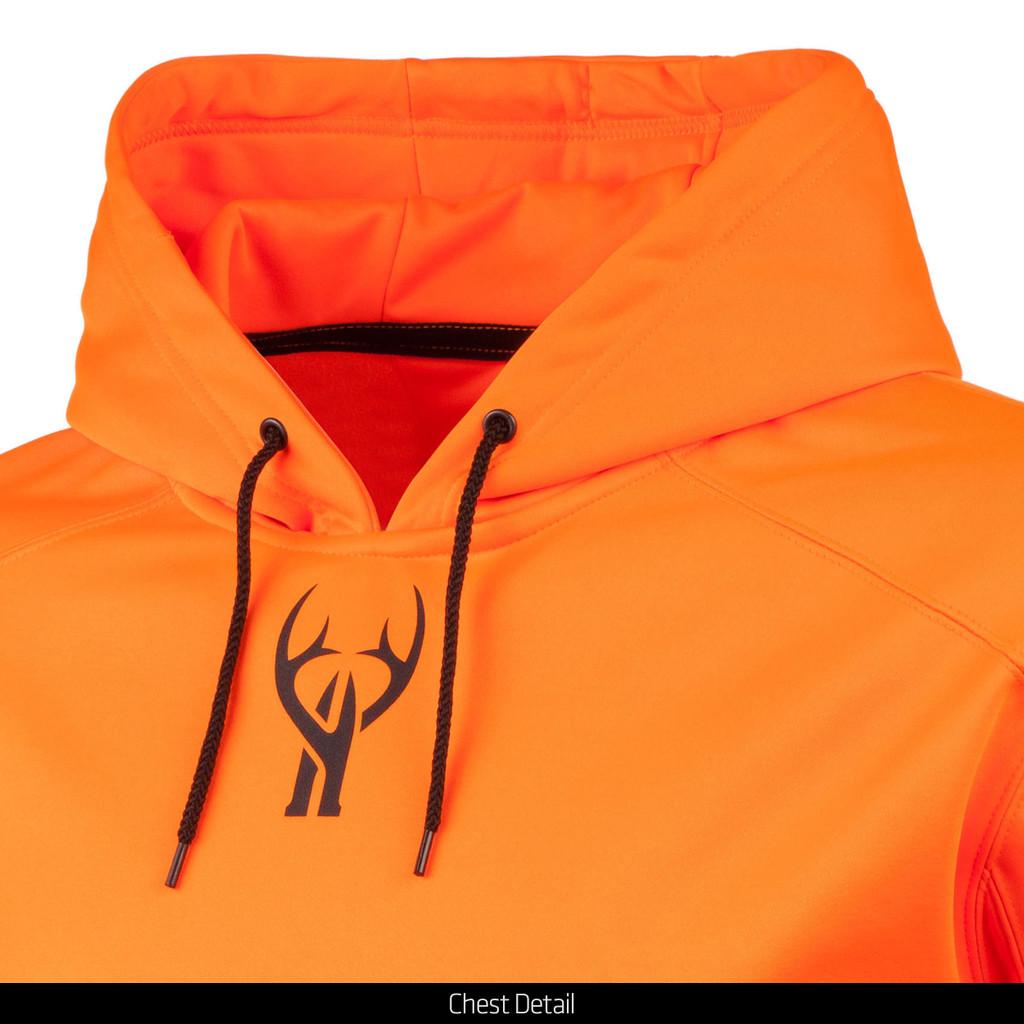 Men's hunting hoodie - Chest detail.