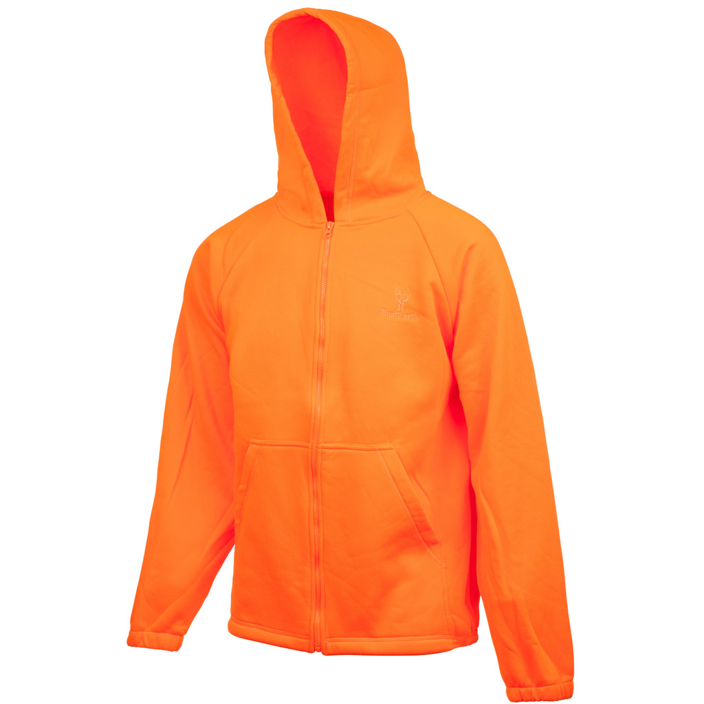 Men's Hooded Knit Jersey Hunting Jacket (Blaze)