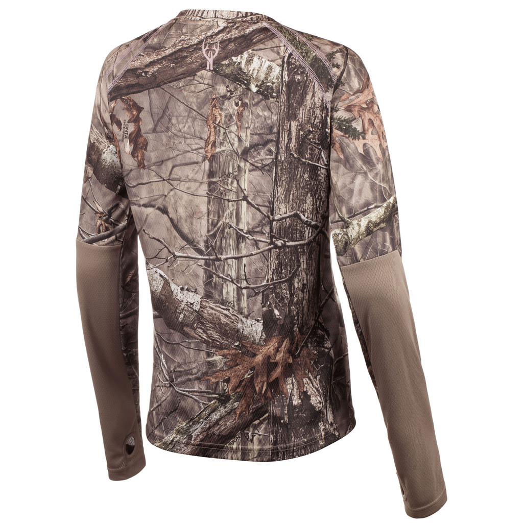 Rear view: Hidd'n® pattern Long Sleeve Shirt - Relaxed fit.