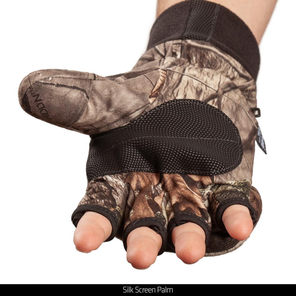 Heavyweight Waterproof Hunting Pop Top Gloves - Silk screen palm.