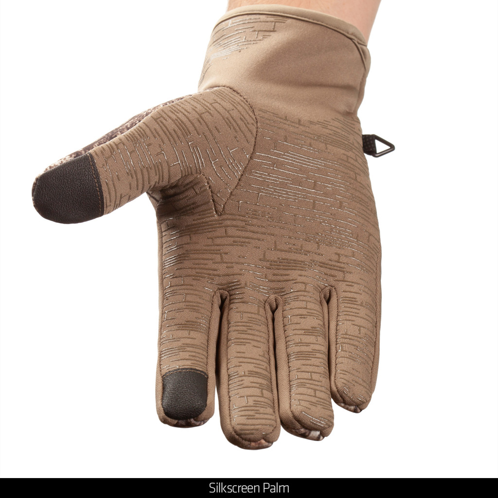 lightweight Hybrid Windproof/Water Resistant Hunting Gloves - Silk screen palm.