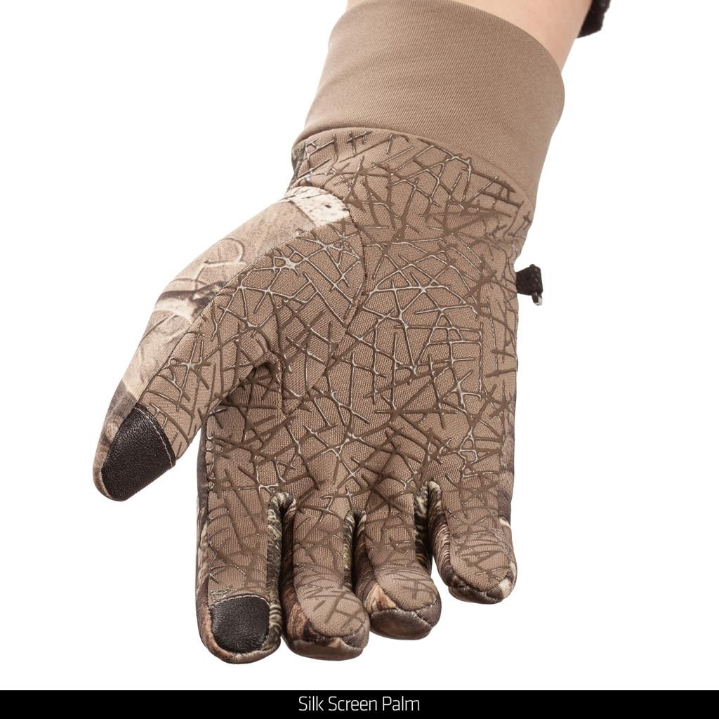 lightweight Hunting Gloves - Silk screen palm.