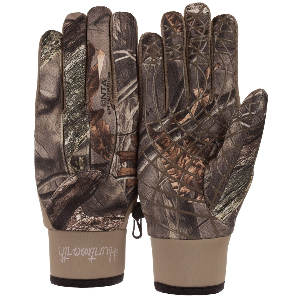 Ladies Hidd'n® pattern midweight Windproof Hunting Gloves.