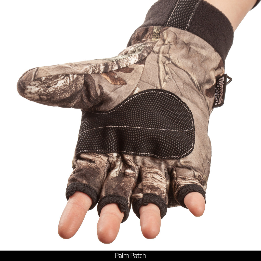 Heavyweight waterproof hunting pop top gloves - Palm patch.