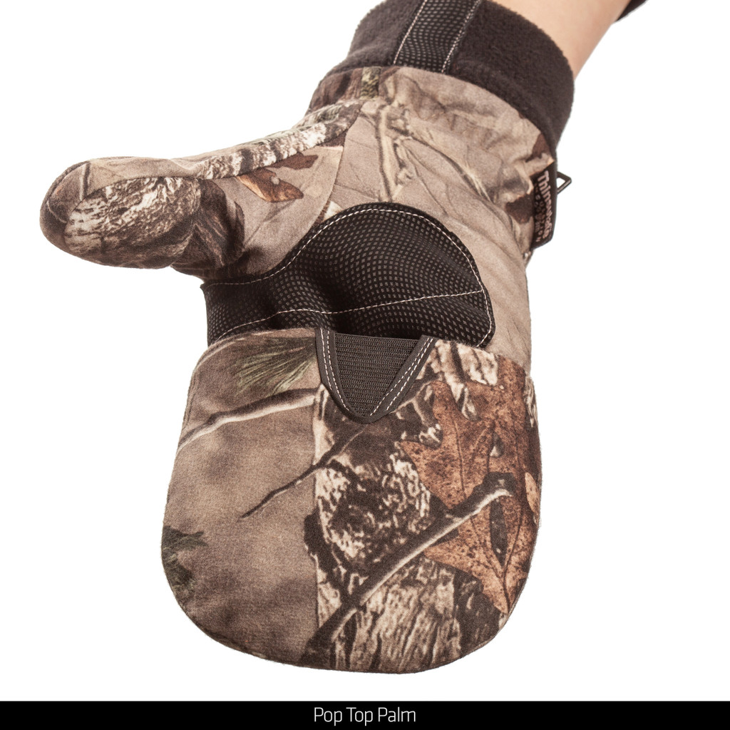 Heavyweight Thinsulate Insulated camo hunting gloves - Pop top Palm