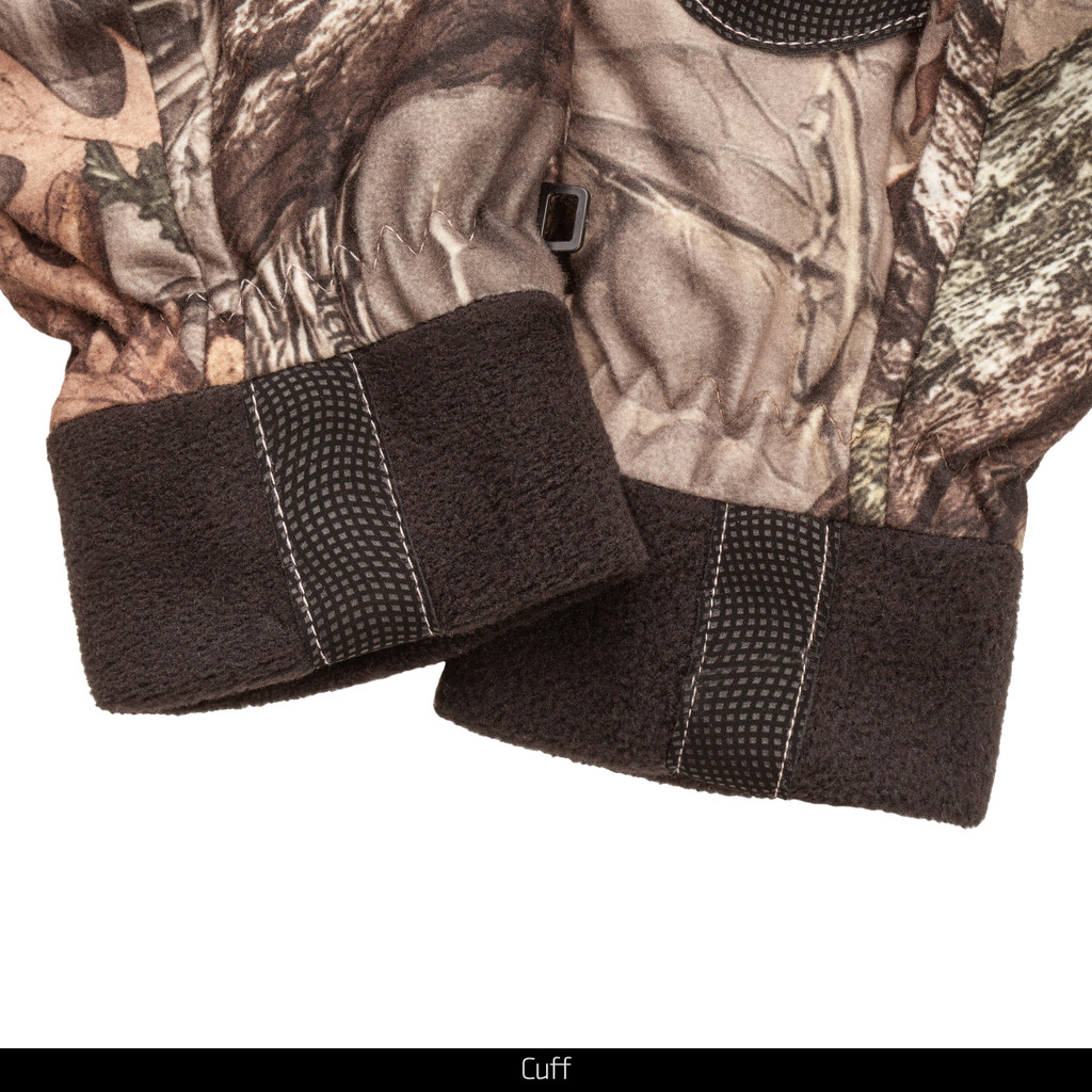Insulated hunting gloves - Cuff detail.
