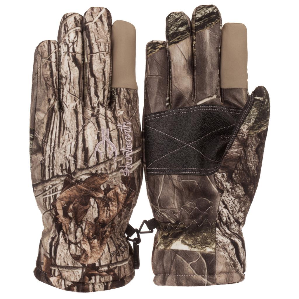 Ladies Hidd'n® pattern heavyweight Waterproof Hunting Gloves.