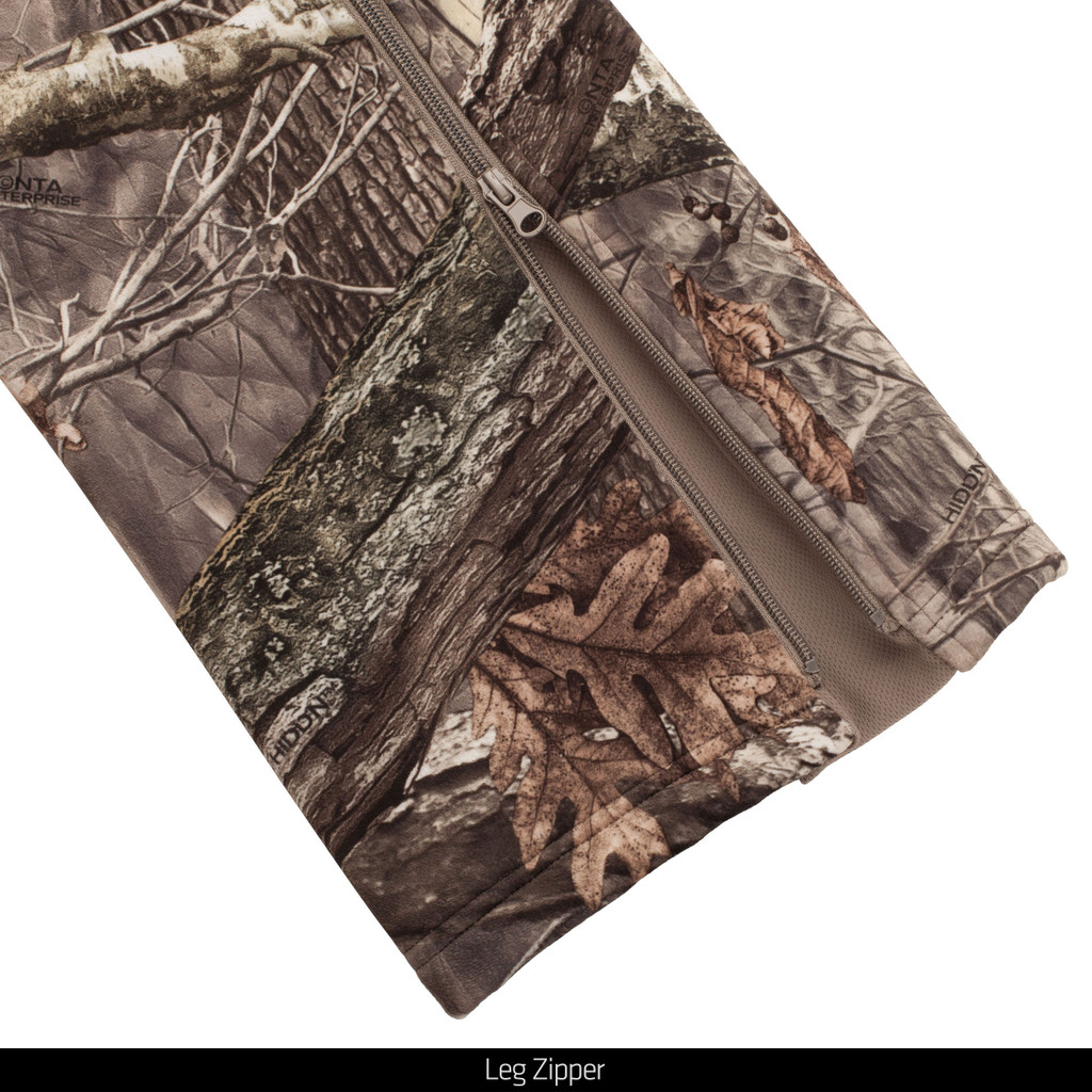Heavy Weight Windproof Hunting Pants - Leg Zipper.
