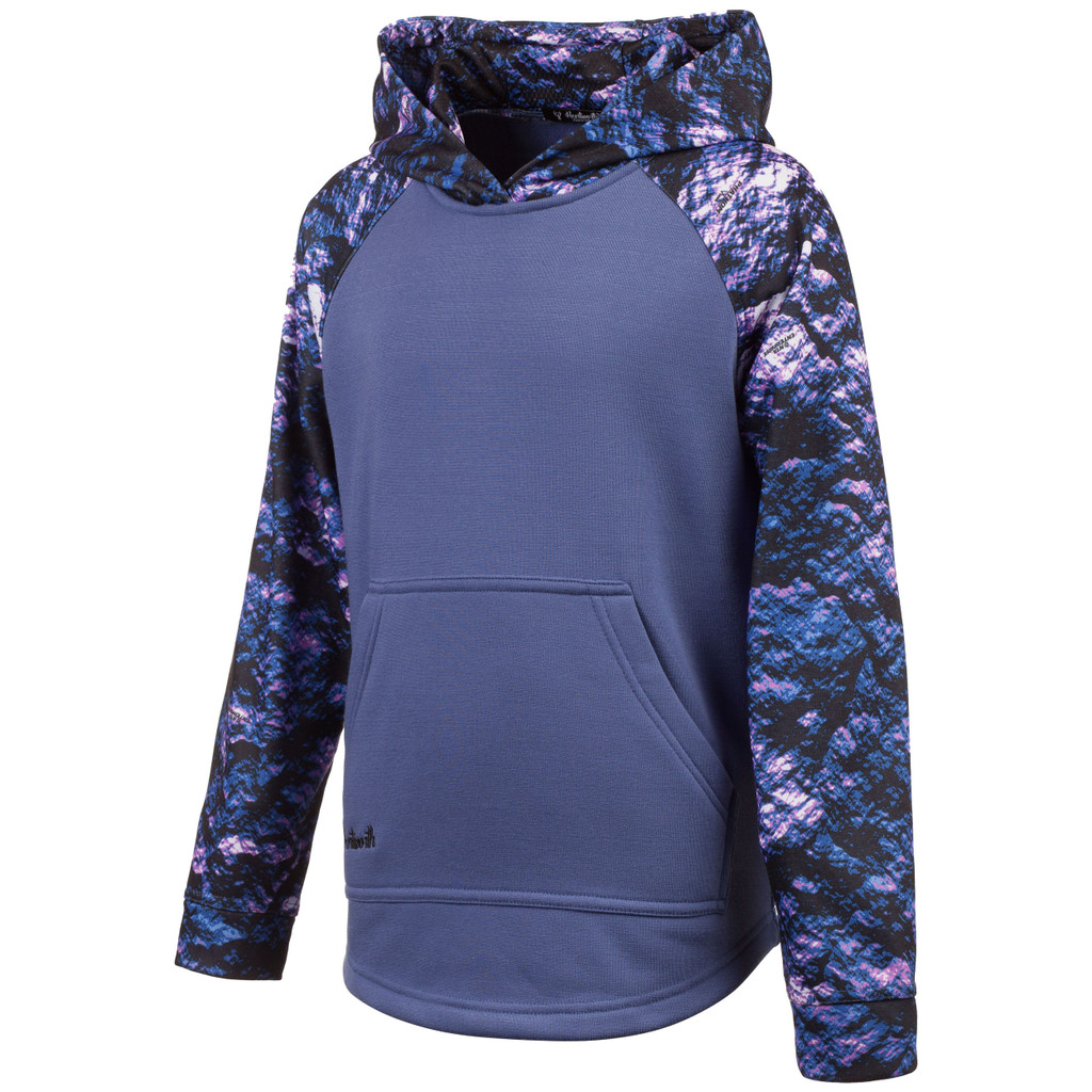 Youth's Liliac and Vixen color Knit Jersey Lifestyle Hoodie.