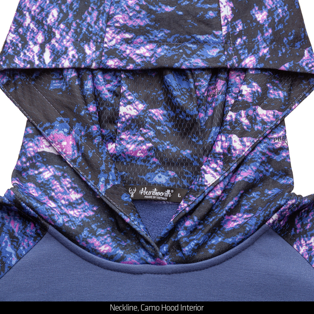 Camo hood hoodie