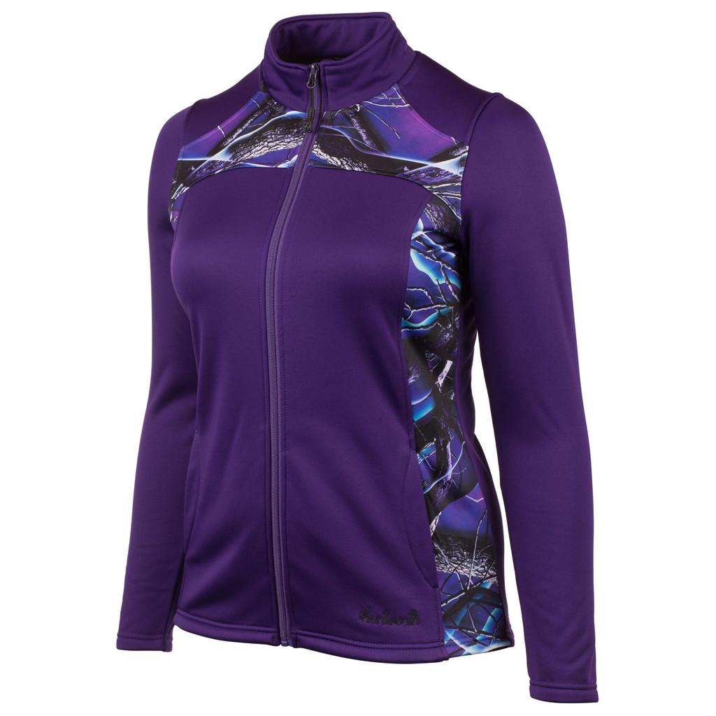Women's Indigo and Ultraviolet color Perfomance Fleece Lifestyle Hoodie.