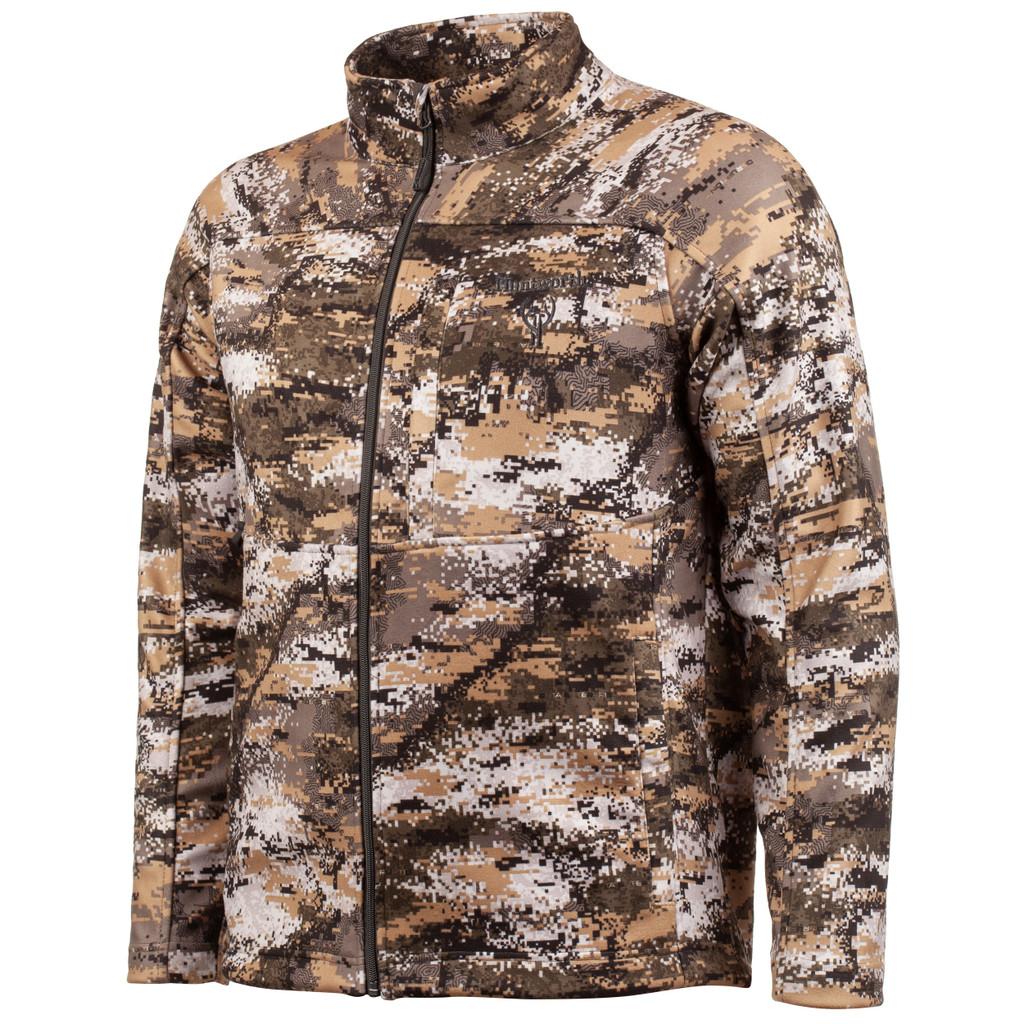 Men's Disruption® pattern midweight hunting Soft Shell Jacket.