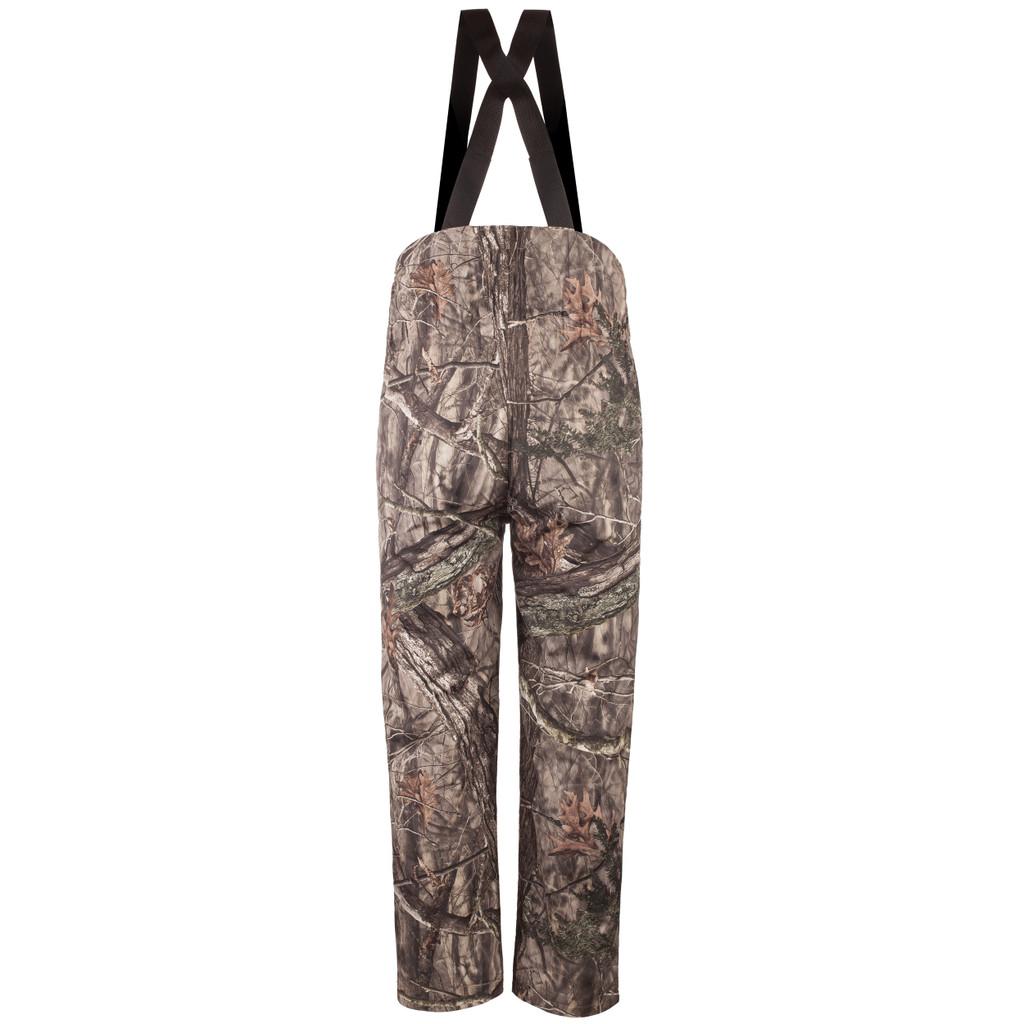 Rear view: Hidd'n® Bib Overalls - Polyester lining.