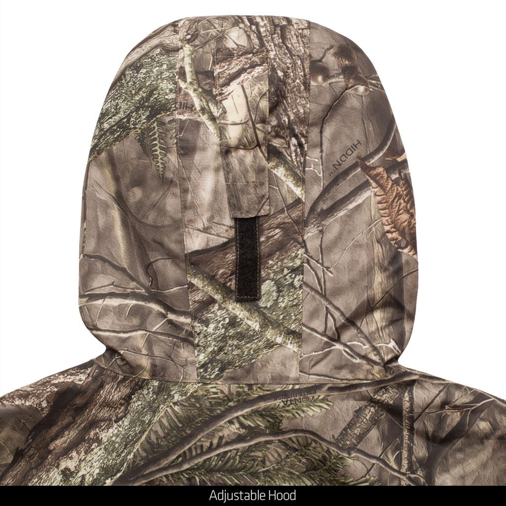 Light Weight Waterproof Hunting Jacket - Adjustable 3-piece hood.