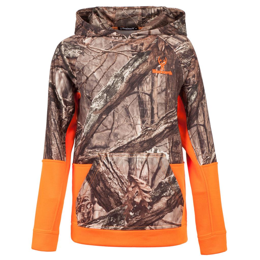 Hidd'n® pattern Hoodie - Kangaroo front body pocket.