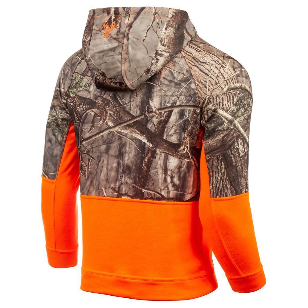 midweight Hunting Hoodie - 3-piece hood lined with camo Birdseye mesh.