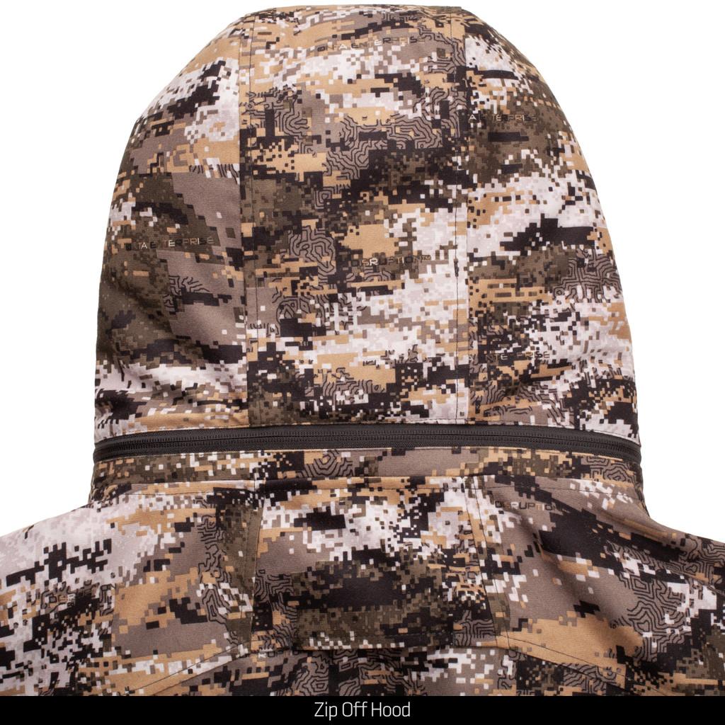 Sherpa lined hunting jacket - Zip off hood.