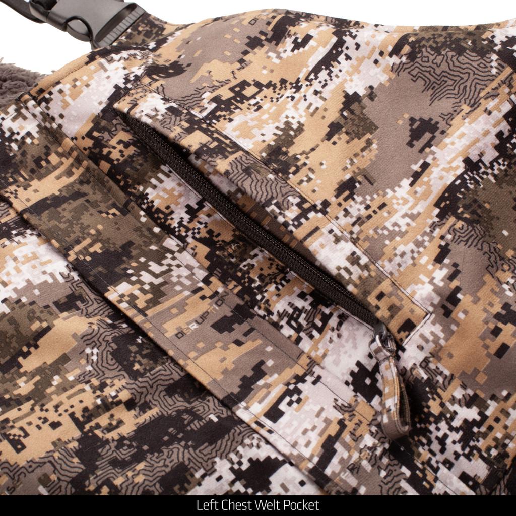 Disruption® Hunting bib overalls - zipper chest pocket.