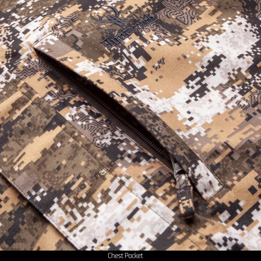 Disruption® pattern Jacket - One zip chest pocket.