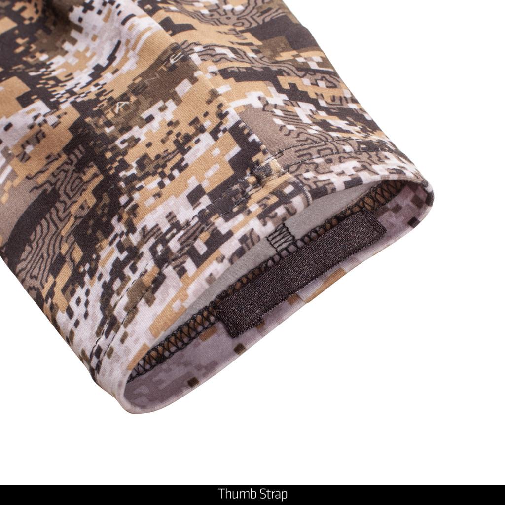 midweight Hunting Shirt - Thumb strap.