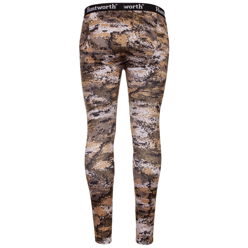midweight Hunting Base Layer Bottom - 4-way stretch single jersey material.
