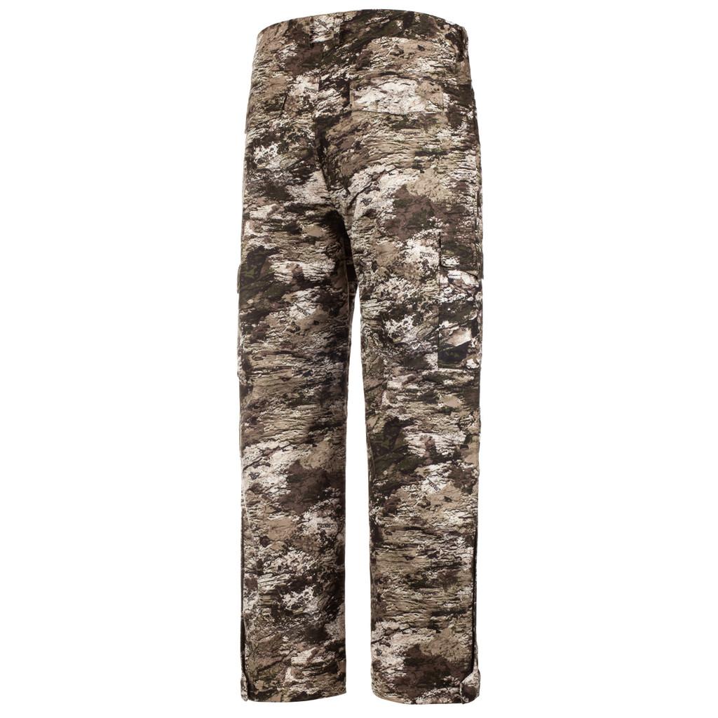 Rear: Waterproof Rain Pants - Water resistant.