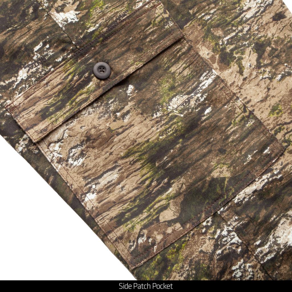 Tarnen® pattern Hunting Pants - Side patch pocket.