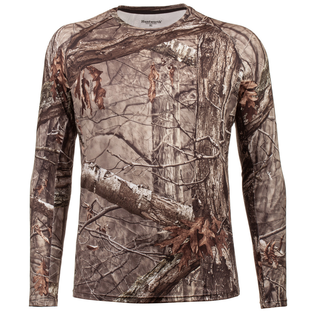 Hidd'n® pattern Base Layer Shirt - Form fit.