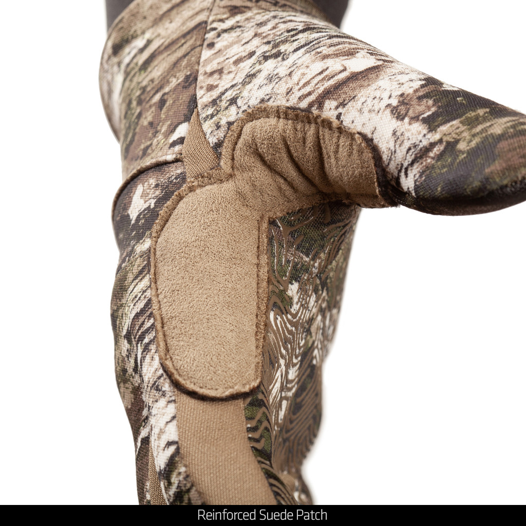 Lightweight Unlined Hunting Gloves - Reinforced suede patch.