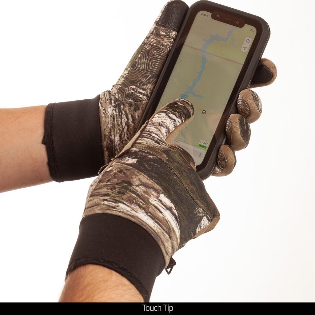 Tarnen® pattern Gloves - Touch tip.