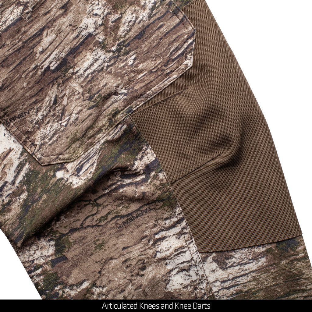 Tarnen® pattern hunting Pants - Articulated knees and knee darts.