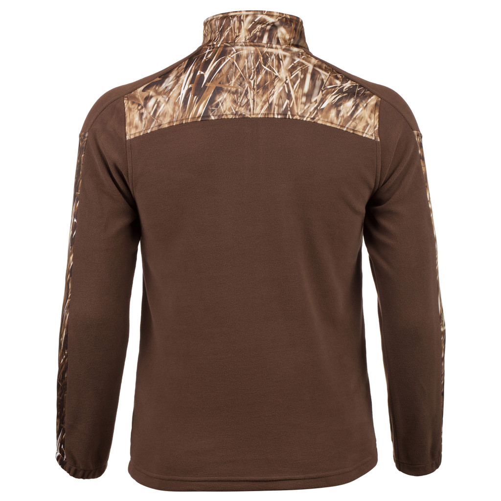 Men's Anti-pill Fleece ¼ Zip Pullover (Brown and Marshland™)