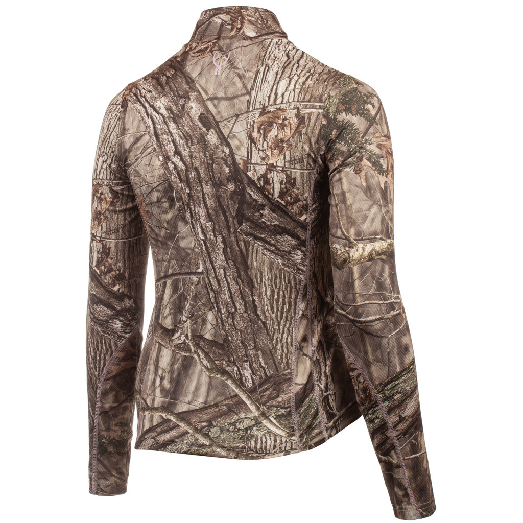 Rear view: Light Weight Hunting Pullover - Chemically treated for scent control.