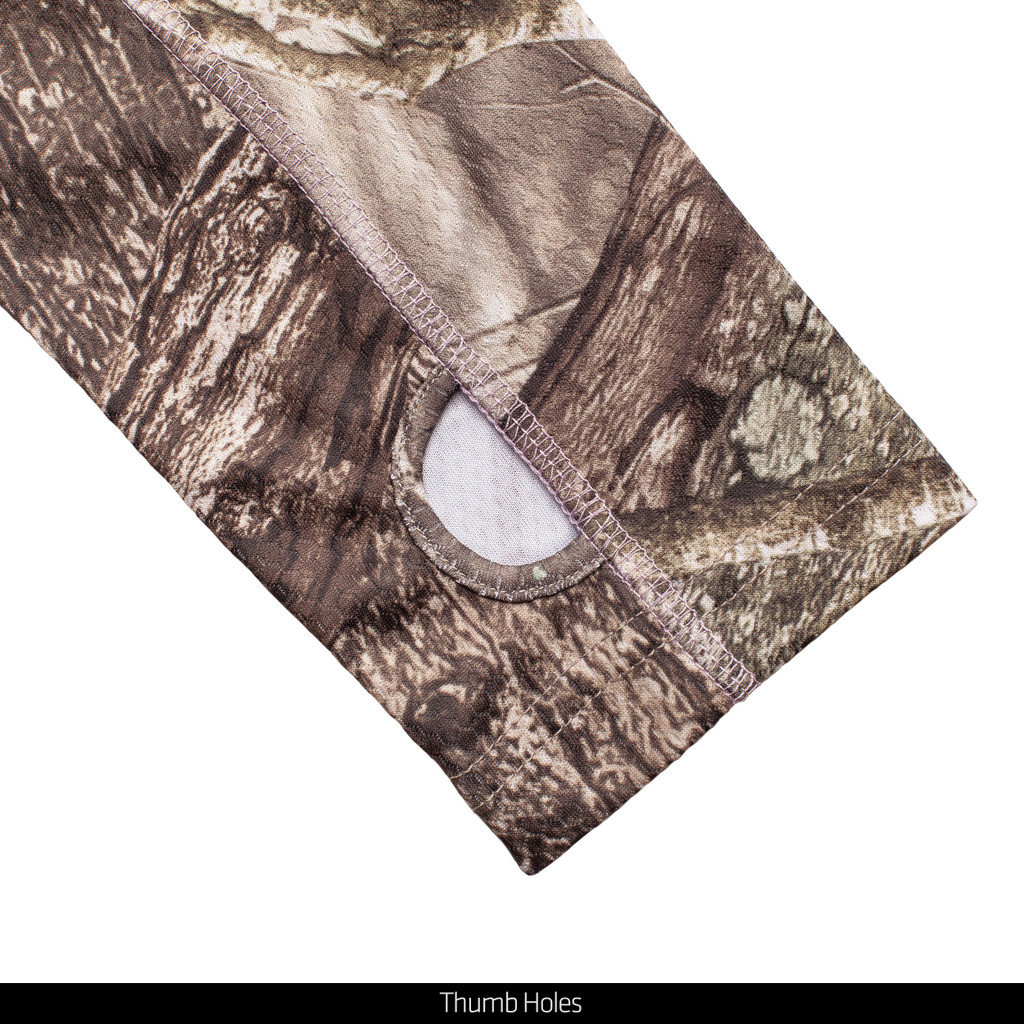 Hidd'n® pattern Hunting Pullover - Thumb holes.