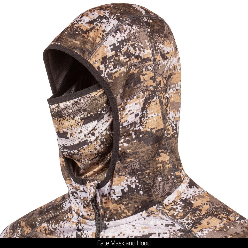 Disruption® midweight hoodie - Face mask and hood.