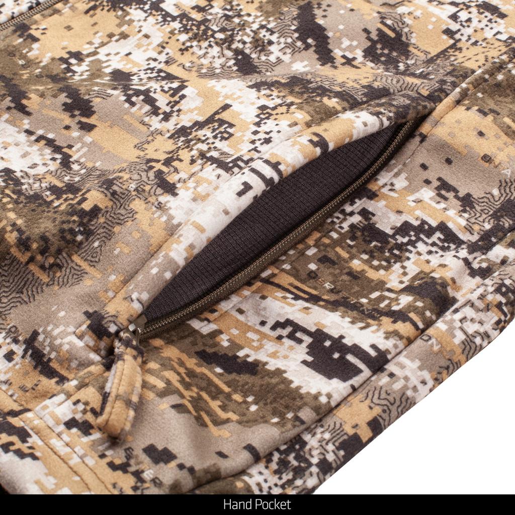 Midweight camo jacket - Hand pocket.