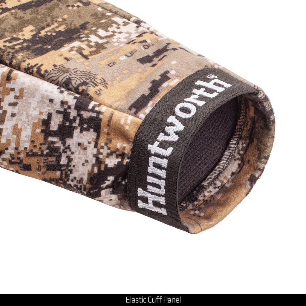 Windproof hunting jacket - Elastic cuff panel.