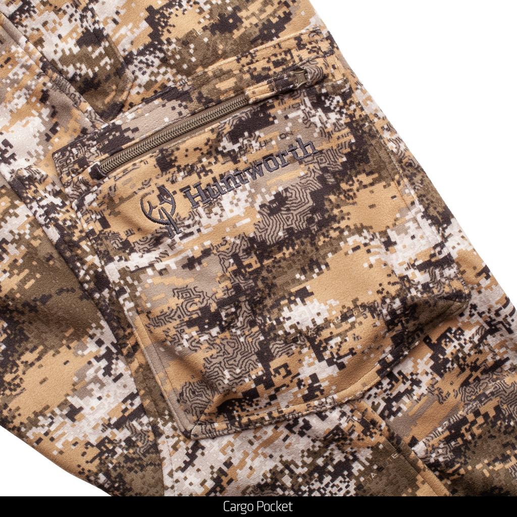 Men's Elkins Midweight, Windproof, Soft Shell Grid-Fleece-Interior Hunting Pants - Disruption®