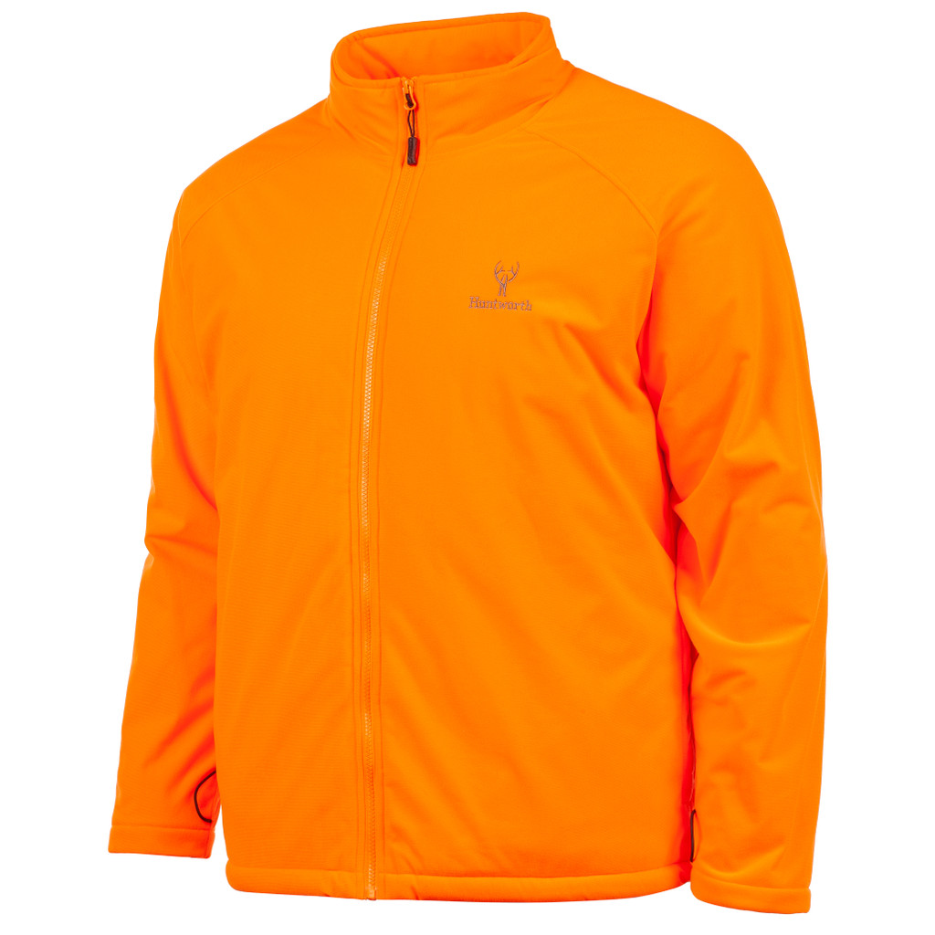 Blaze Orange jacket - Tricot with windproof film.
