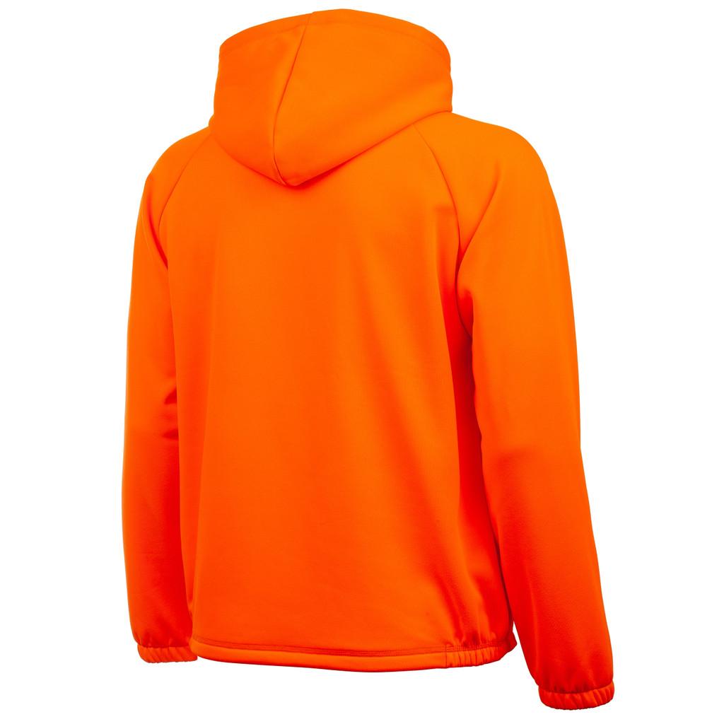 Rear view: Blaze hunting hoodie - Large kangaroo pocket.