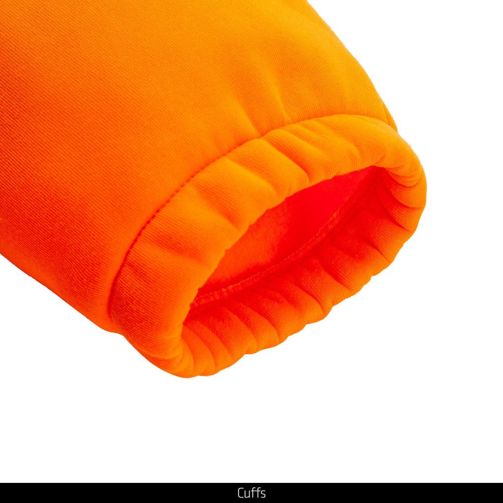 Blaze color hunting hoodie - Cuffs.
